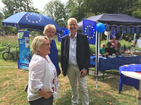 unser Kreisvorsitzender mit der Syker Bürgermeisterin Suse Laue und Landrat Cord Bockhop